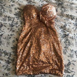 Sweetheart sequence dress